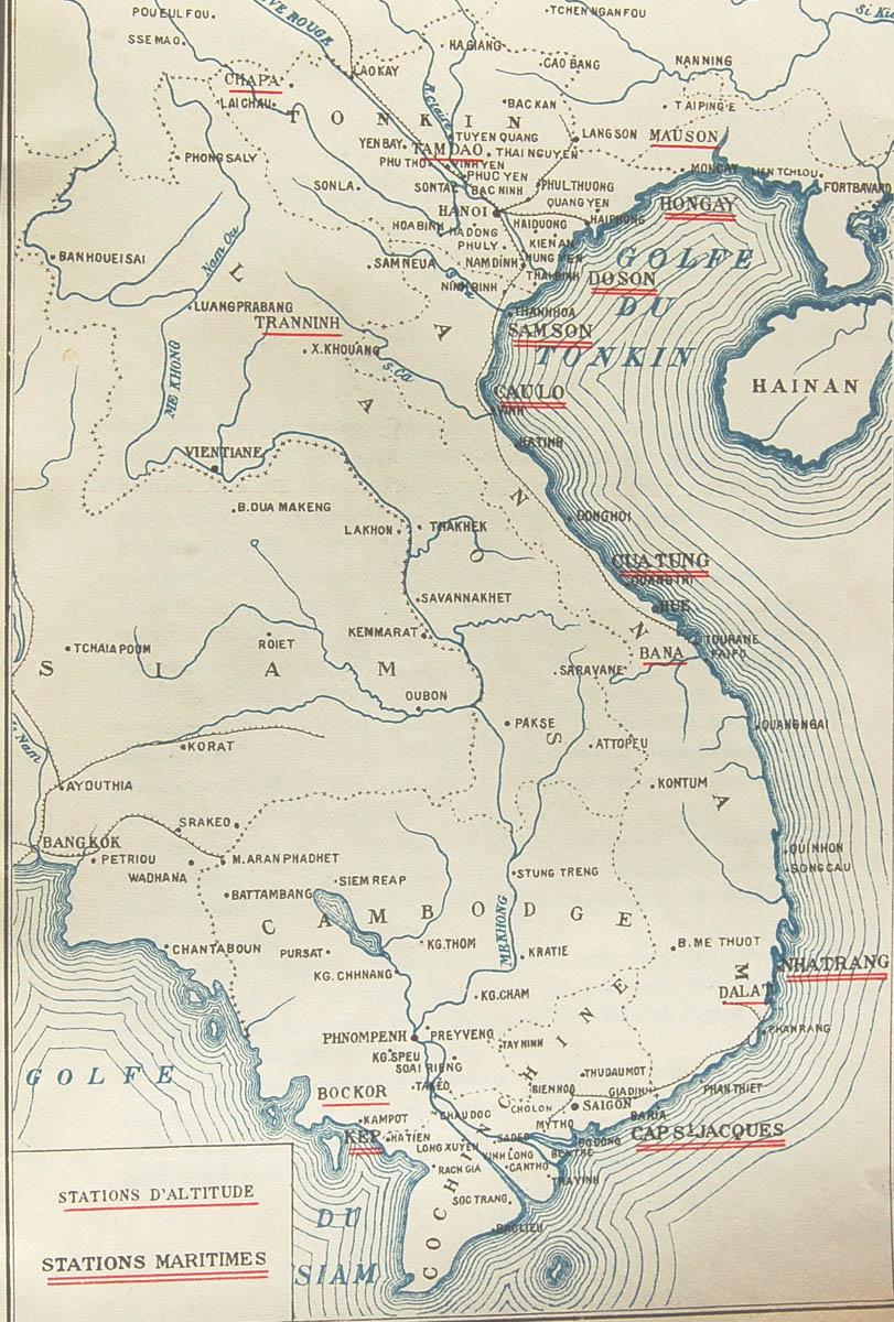 Carte Du Sud Est De Linde.L Indochine Coloniale Plan Et Cartes